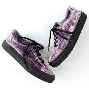 VANS Velvet old skool sneakers